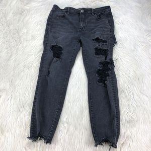 AEO Distressed Hi-Rise Jegging Jeans